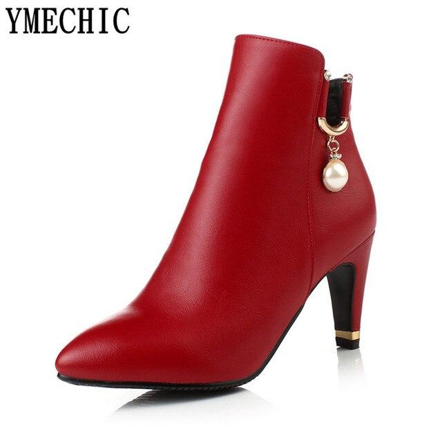 Chaussures automne à bout pointu rouges Sexy femme 32DcYpKSg