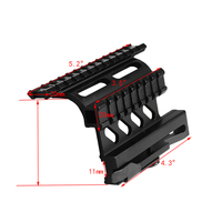 Tactical AK Serie Rail Side Mount Quick QD Style 20mm Detach Weaver Rail Double Side AK