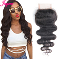 7A Brazilian Virgin Hair With Closure 3PCS Brazilian Body Wave Hair Bundles With 1PC Lace Closure 4x4 Part 100% Human Hair Weave