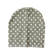 2017 Baby Caps Star Dot  Heart Printing Baby Hat Geometric Cotton Knitted Baby Boy Hats Autumn Winter Children's Beanie Hat