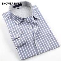 Linen Shirts Men Long Sleeve Plus Size 3XL White Blue Pink Orange Green Khaki Red Button
