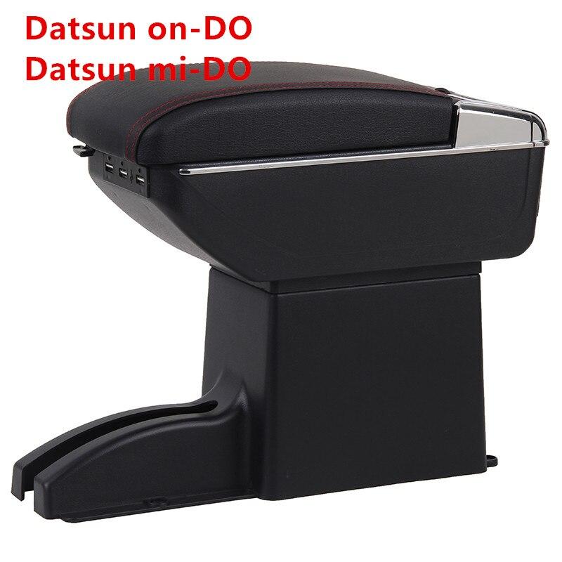 Datsun on-DO Armrest Box Datsun mi-DO 유니버설 카 중앙 팔걸이 수납 박스 컵 홀더 재떨이 수정 액세서리