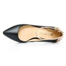 Universe Sexy Super High Slim Heel Women Shoes Snake Skin Print Ankle Strap Pumps C020