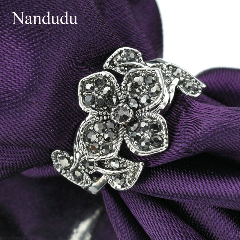 Nandudu όμορφα λουλούδια Marcasite - Κοσμήματα μόδας - Φωτογραφία 5