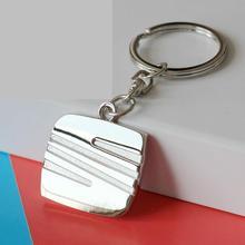 2016 llaveros Car Styling Keychain For SEAT Ibiza Leon 1 2 3 Cupra Silver Metal Car Logo Keychain Key Ring Accessories Gift