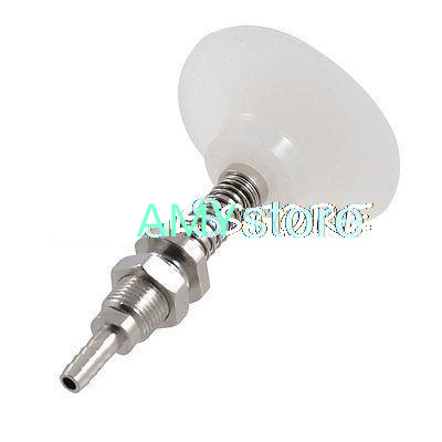 Pneumatic 5mm Tubular Barb Connector Clear White Silicone Vacuum Suction Cup 50mm M11 Thread