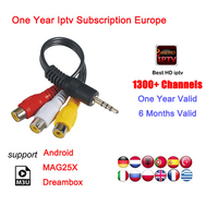 1 Year Europe IPTV subscription France German Arabic Belgium Spain Sweden Portugal Poland 1800+ channels smart TV Box IPTV M3U