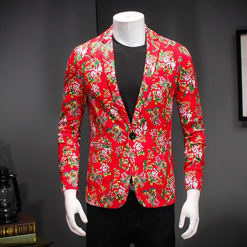 Mens Blazer Jacket Mens Korean Slim Fit Fashion Cotton Blazer Suit Jacketplus Size M Tomale Blazers Coat Wedding
