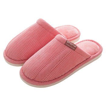 Home Slippers Short Plush Warm Soft Cotton Women Slippers Loves Floor Indoor Shoes Women Slippers