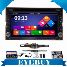 2 din 6 2 Touch Car Auto DVD GPS Navigation player Stereo Radio GPS Bluetooth tv