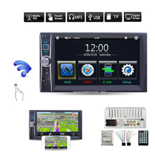 6.6 дюймов Bluetooth стерео Авто Аудиомагнитолы автомобильные MP5 плеер FM Радио HD touch цифровой Экран Поддержка usb телефон/Планшеты подключен GPS