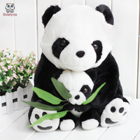 Mother Pandas Hold Bamboo Panda Plush Toy Doll Children Stuffed Toy
