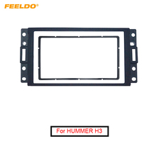 FEELDO de reequipamiento de coche CD DVD Marco de salpicadero para Radio para HUMMER H3 2DIN estéreo Dash placa frontal Marco de panel Kit de montaje # FD5228