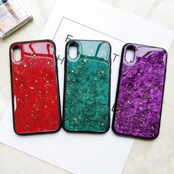 Shinning Color Platinum Drip Glue Cell Phone Case Colouring Protection Shell for iphone 6 6s 7 8 x xs xr xs max