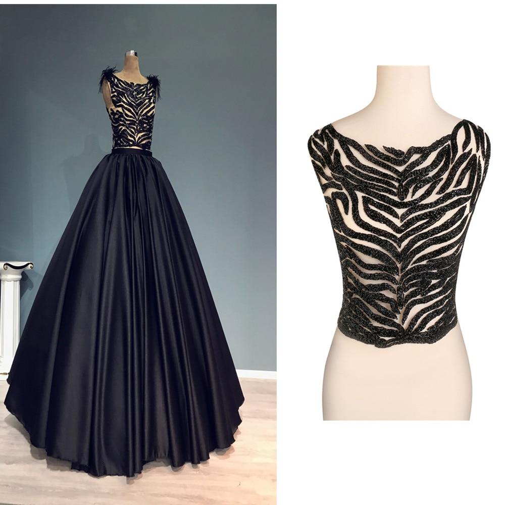 Diy Wedding Gowns: Aliexpress.com : Buy 1Piece Black Beaded Applique Patches