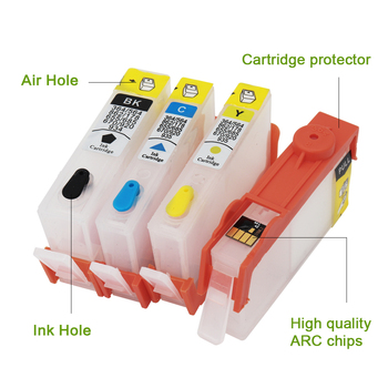 For HP 934 935 Refillable Ink Cartridge for HP934 for HP935 XL For HP Officejet pro 6230 6830 6835 6812 6815 printer with chip hp970xl hp971xl 970 refill ink cartridge with arc chip for hp officejet pro x576dw x476dn x451dn x551dw printer for hp 970 971