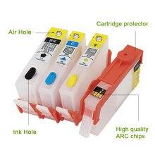 Cartouche d'encre rechargeable avec puce, pour HP 934 935, pour HP934, pour HP935 XL, pour HP Officejet pro 6230 6830 6835 6812 6815