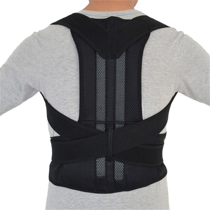 B003 Regolabile Uomini Postura Correttore Di Postura Ortopedica Terapia Cintura Maschile Dolore Alla Spalla Lombare Corsetto Indietro Brace Cintura Cinghie