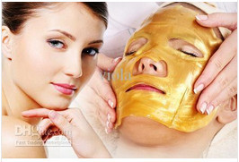Transport gratuit Mască de ochi 5 perechi + 5 perechi / lot Nou ajunge sticlă de colagen de aur Masca faciale Hotsale fata masca de îngrijire a feței produs