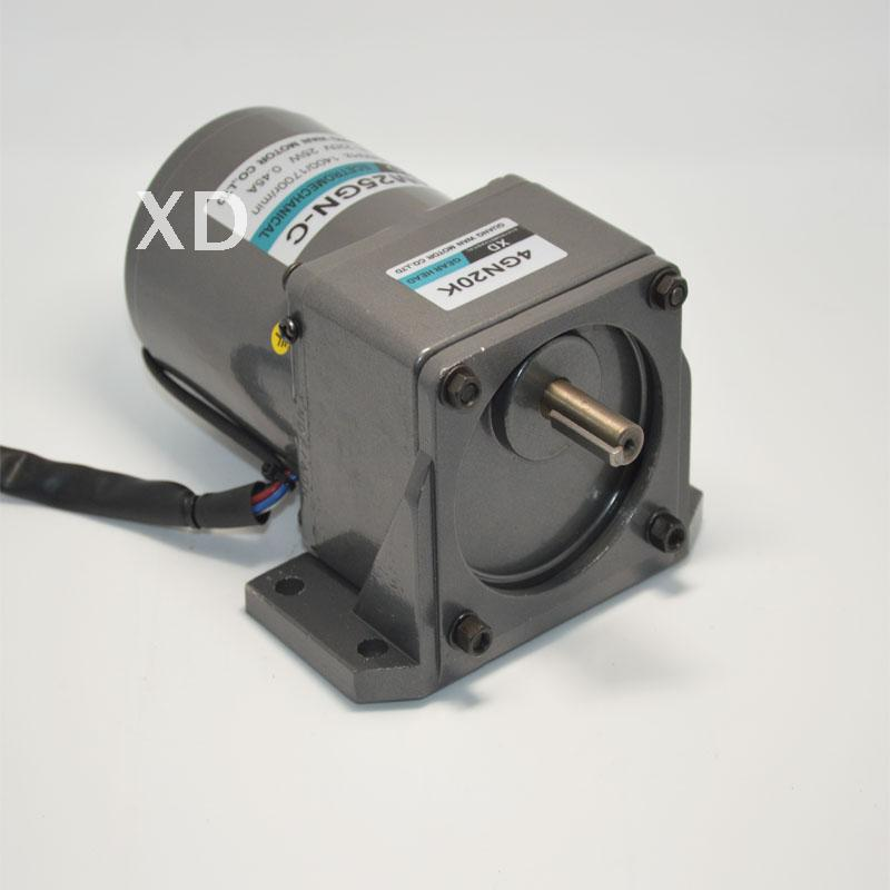 AC220V 25W 10-500rpm 4M25GN-C single-phase gear motor with micro governor Machinery / Power Tools / DIY Accessories motor ac220v 25w 10 500rpm 4m25gn c single phase gear motor with micro governor machinery power tools diy accessories motor