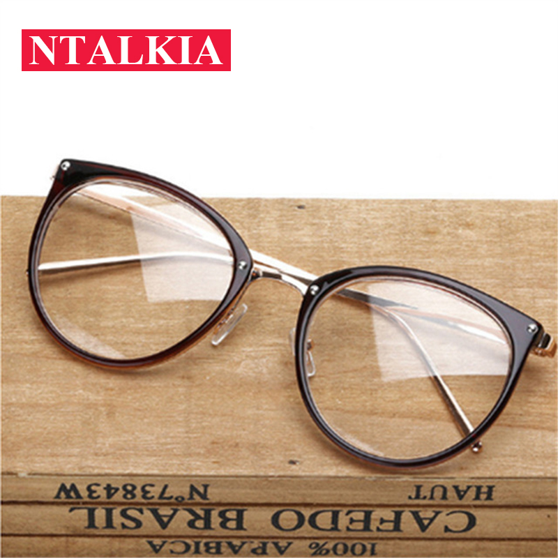 2018 Fashion Glasses Transparent Women 39 s Frame No Degree Eyeglasses Oversized Cat Eye Glasses Frame Clear Lens Glasses Men in Men 39 s Eyewear Frames from Apparel Accessories