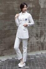 Plastic surgeon wear white coat long sleeve han version beauty salon beautician work clothes dentist uniform summer