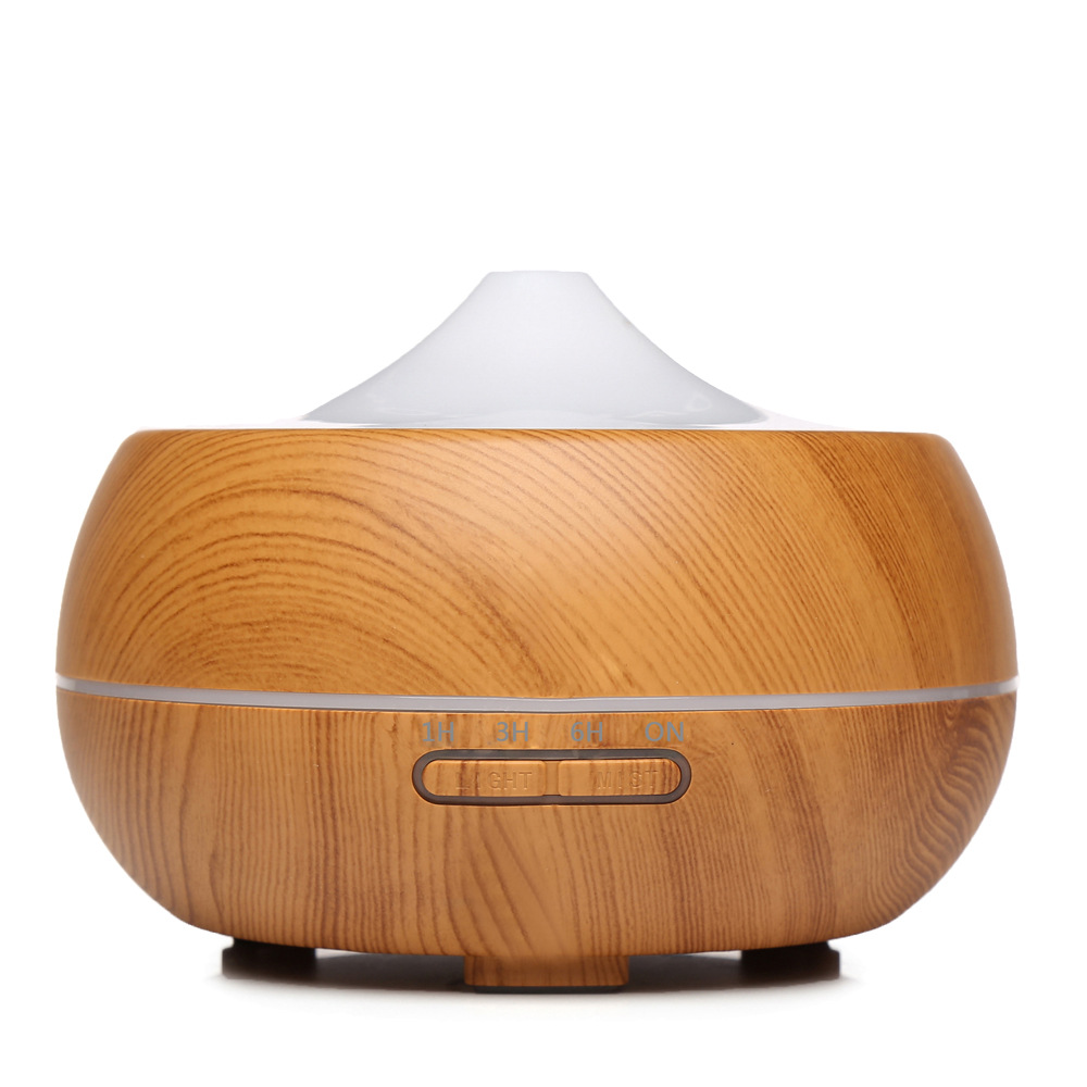 air humidifier 300ml Ultrasonic Aroma Essential Oil Diffuser 7 Color Changing LED Lights Aromatherapy machine with Wood Grain