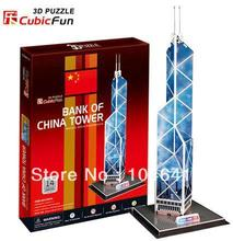 Bank Of China Tower CubicFun 3D educational puzzle Paper & EPS Model Papercraft Home Adornment for christmas gift