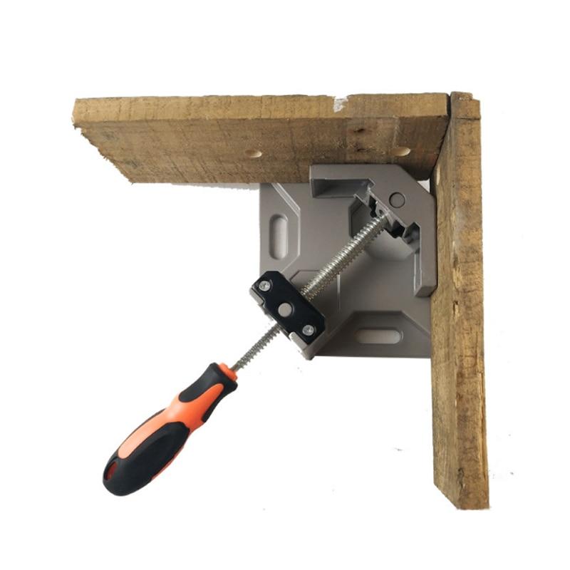 Aluminum Single Handle 90 Degree Right Angle Clamp Angle Clamp Woodworking Frame Clip Right Angle Folder Tool цена