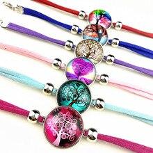 24pcs Tree of Life,cashew flower,mandala,rose multicolored Glass cabochon Ethnic Style Retro Style charm bracelets for women