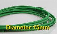 Diameter 15mm Round Green Rough Surface PU Industrial Belt Conveyor Belt Freeshipping