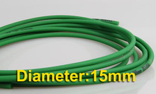 Diameter:15mm Round Green Rough Surface  PU Industrial belt conveyor --freeshipping