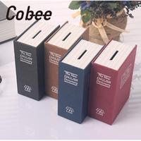 4Color Small Home Security Dictionary Key Book Safe Lock Box Storage Piggy Bank Creative Accessories