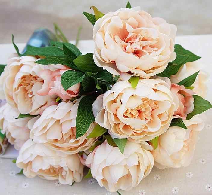 Высококачественные Искусственные цветы Пион 3 головки шелковые цветы для домашнего декора свадебные цветы Бесплатная доставка