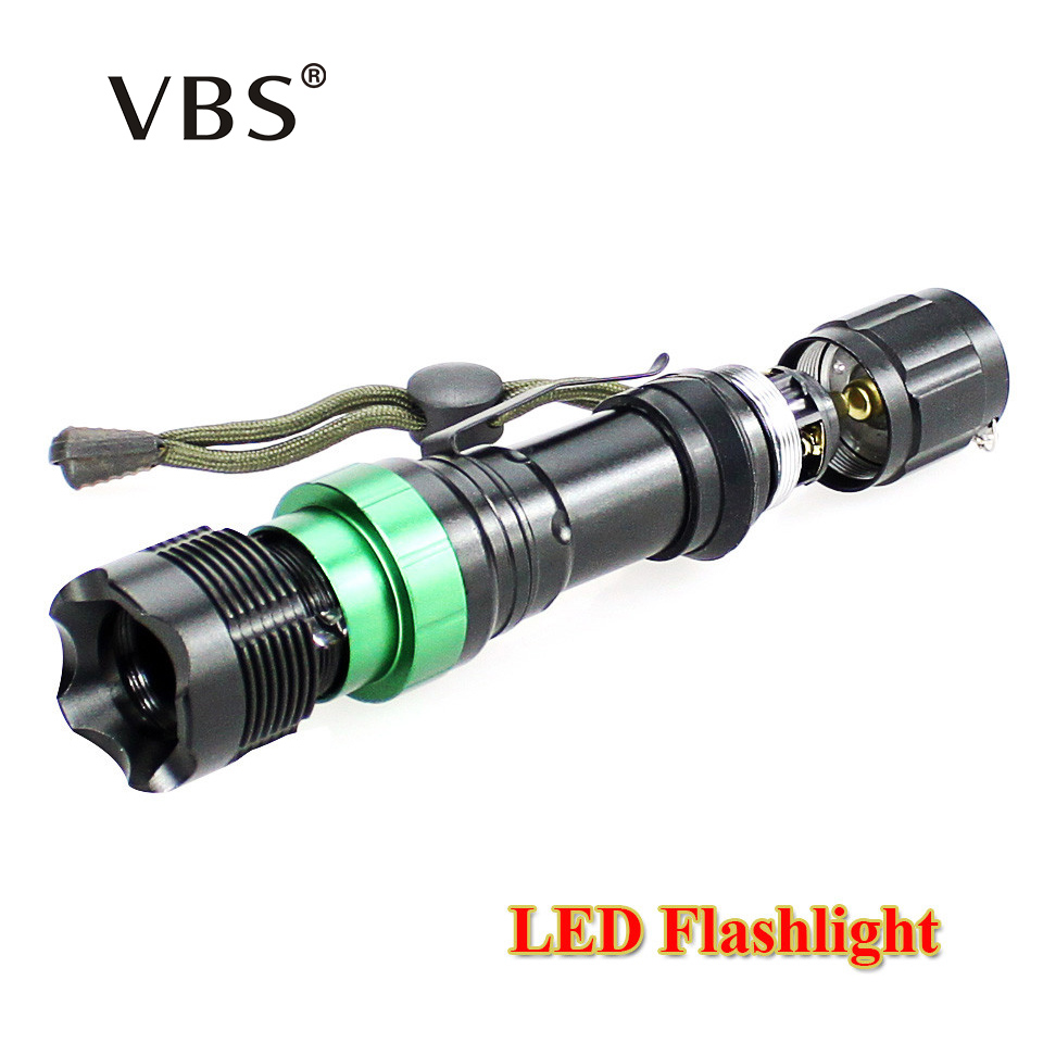 Zoomable LED Flashlight 1000lm / 2000Lumens  CREE Q5 / XM-L T6 LED Torch Cree LED Flashlight Torch No battery 3xAAA or 1x18650 top quality ultra bright cree xm l t6 led flashlight 5 modes 3000 lumens zoomable led torch light for 3xaaa or 1x18650 battery