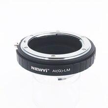 Newyi adaptador para n ikon ai f g af s mout lente para fm lm l/m câmera nova lente anel acessórios