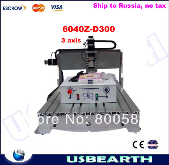 cnc 3040 3020 6040 router cnc wood engraving machine rotary axis for 3d work all knids of model number russian tax free CNC 6040Z-D300 engraving machine 300w wood router for cutting wood, acrylics, free tax to Russia