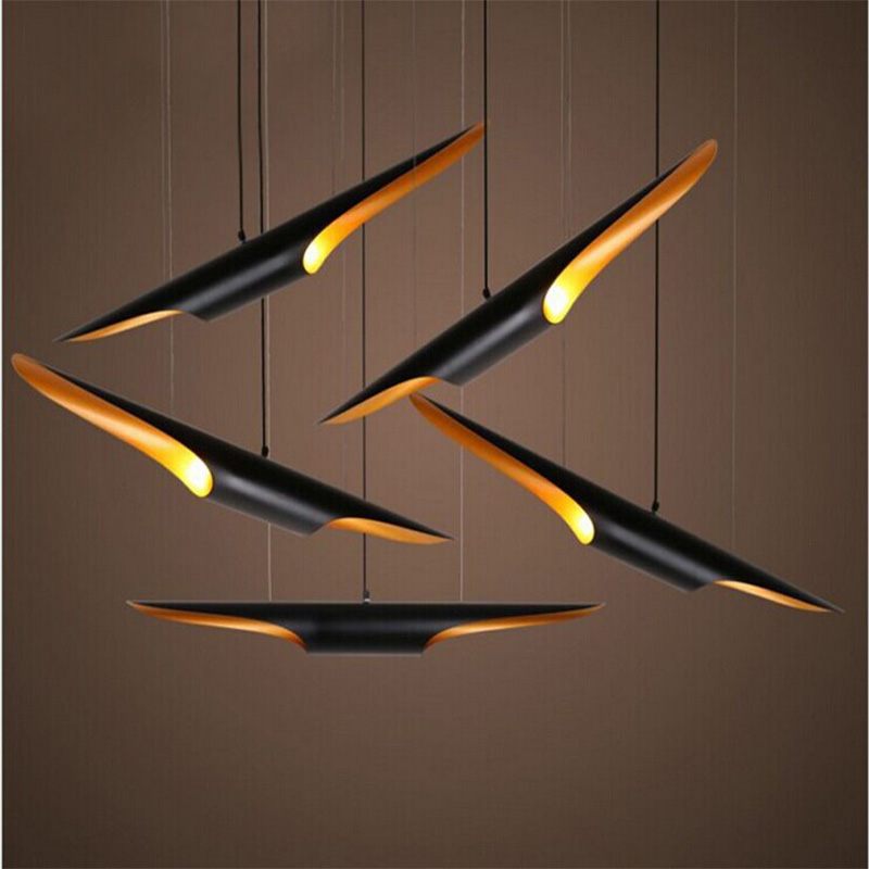 Northern Europe Delightfull Coltrane Oblique Aluminum Tube Chandelier Art Creative Personality Restaurant Bar Cafe Chandelie contemporary and contracted creative personality retro art glass chandelier cafe restaurant study lamps act the role of milan