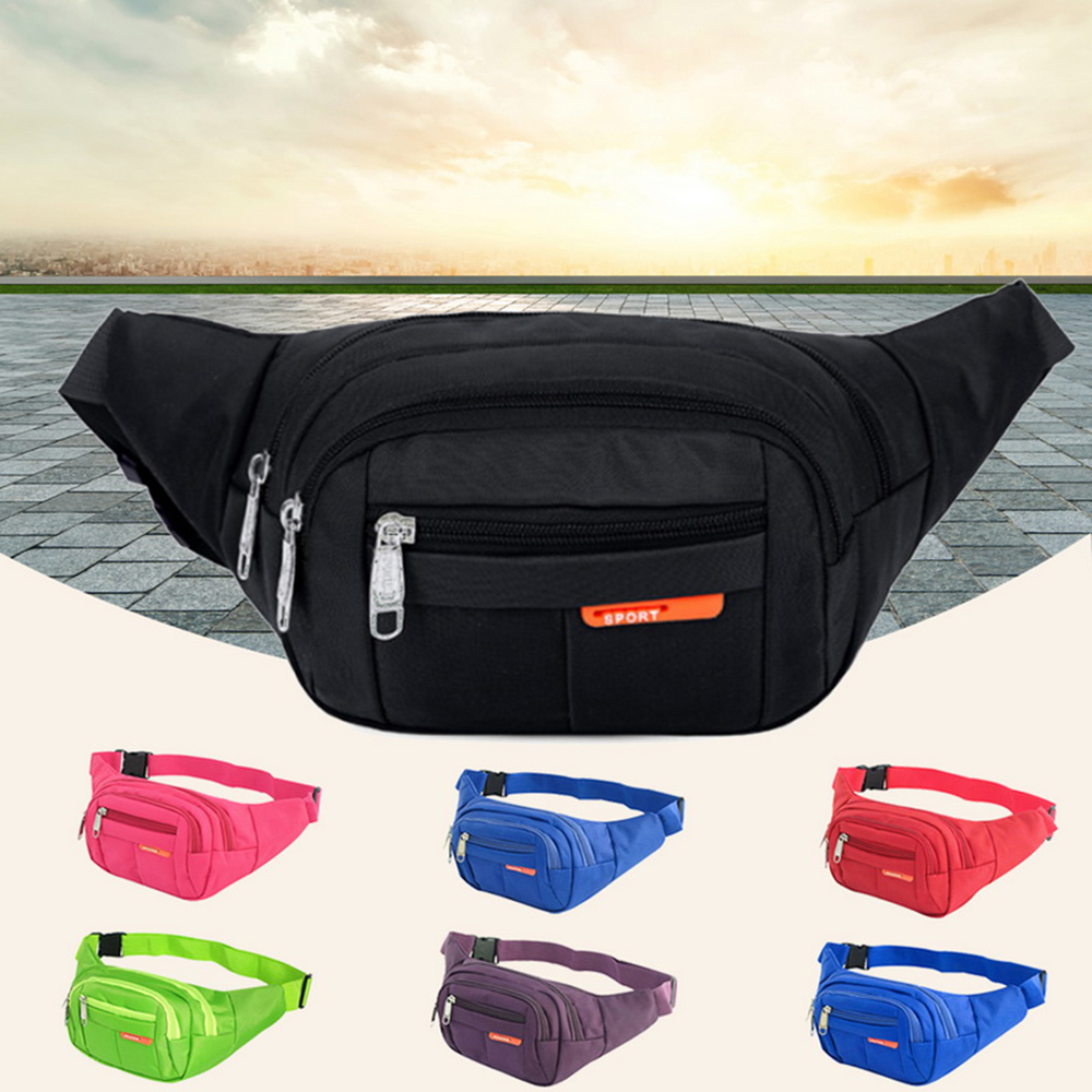 Outdoor Fanny Pack Adjustable Belt Bag Multifunctional Waist Bag For Running Hiking Travel Bag Women Men Bags