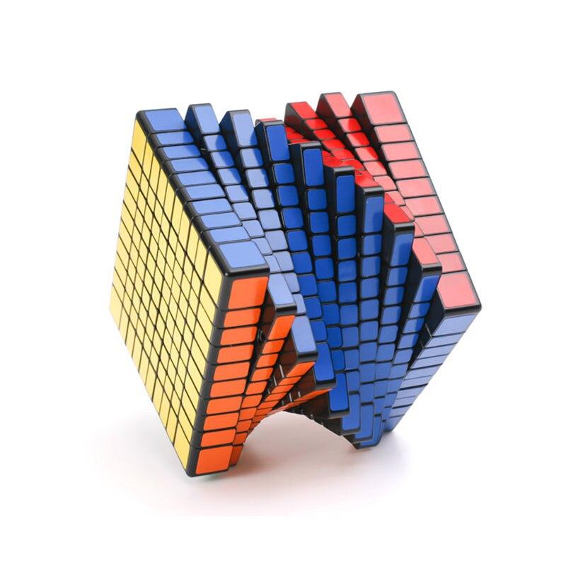 10x10 Cube, autocollant noir Cube magique compétition professionnelle Cube de vitesse Puzzles pour adultes Puzzles pour enfants jouets éducatifs
