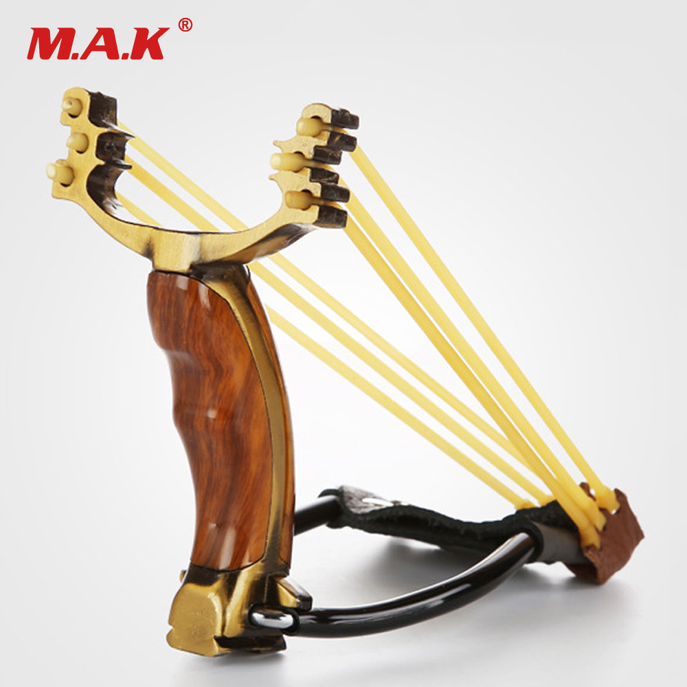 Powerful Slingshot with Stainless Steel Alloy 3 Slots High 165mm for Outdoor Hunting Fishing vik max adult kids dark blue leather figure skate shoes with aluminium alloy frame and stainless steel ice blade
