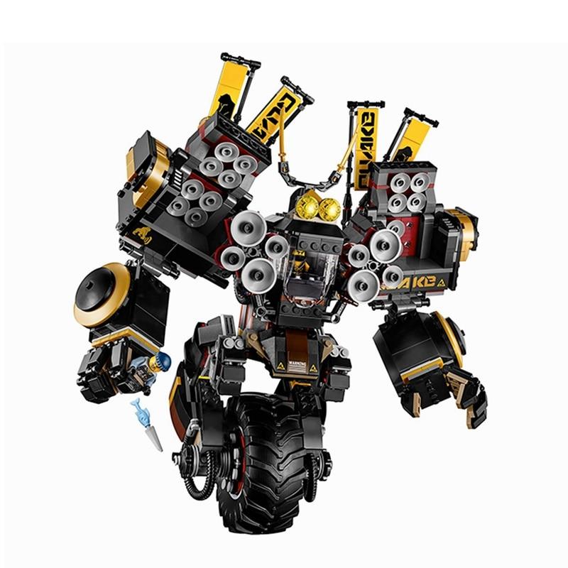 Block Ninja Series Movie Figure Quake Mech Building Blocks Bricks Educational Gifts Compatible 1346Pcs Sets