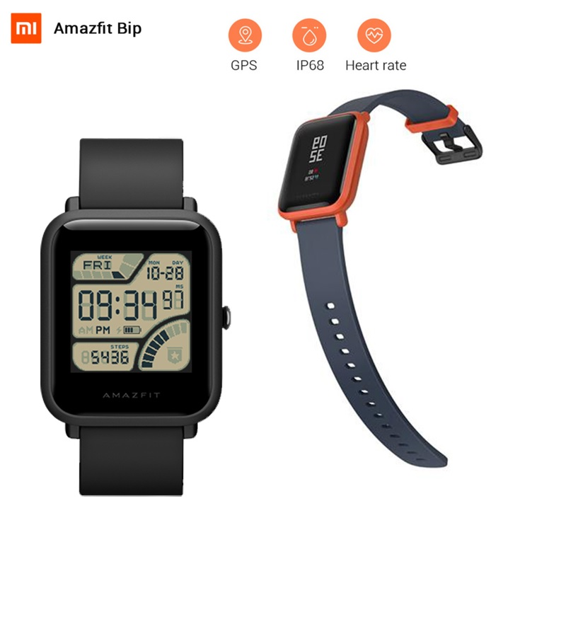 English Ver. Xiaomi Huami AMAZFIT Bip Lite Version Smart Watch Bluetooth 4.0 GPS Heart Rate IP68 Sport Smartwatch 45 Day Standby no 1 f2 ip68 bluetooth smartwatch green