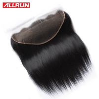 Allrun 100% Human Hair Lace Frontal Straight 13x6 With Baby Hair Pre Plucked Hairline non remy Malaysia Lace Frontal Closure