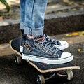 Plana de alta Qualidade Clássico sapatas de lona dos homens e das mulheres para unisex sapatilhas homens sapatos de skate 39-44