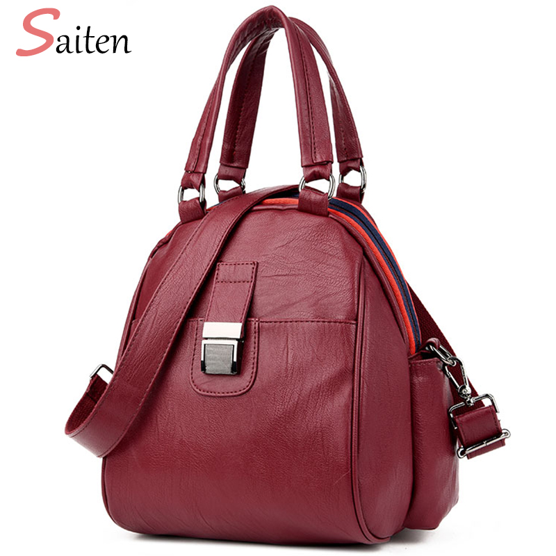 Leather PU Bags Backpacks For Teenage Girls Fashion Backpack Women Bag Famous Brand School Bags New Arrival 2017 bolsa mochila fashion pu leather women backpacks 4pcs set rivet school bag for teenage girls bow mochila bags lady backpack mochila
