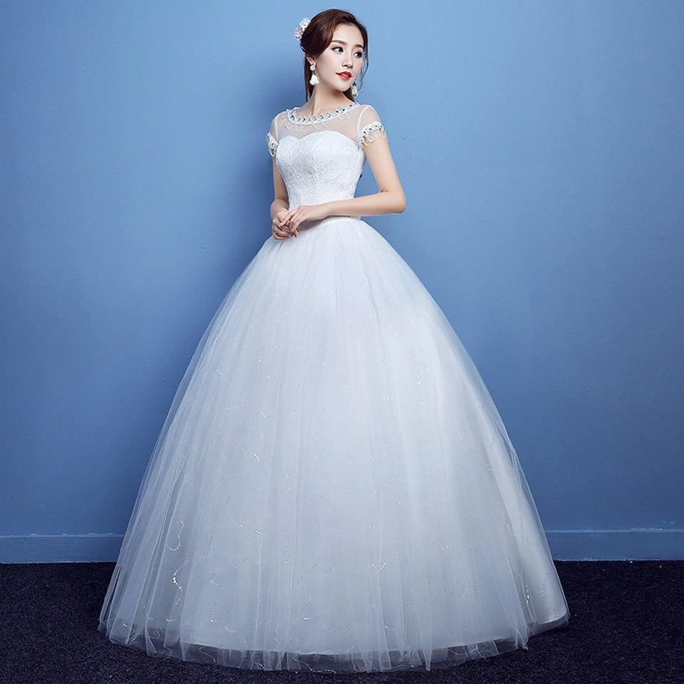 vestido novia Formal White Wedding Gowns Long 2018 Wedding Dresses ...