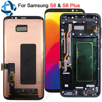For Samsung Galaxy S8 G950 G950F LCD with Frame Replacement for SAMSUNG S8 Plus LCD G955 Display lcd Touch Screen Digitizer
