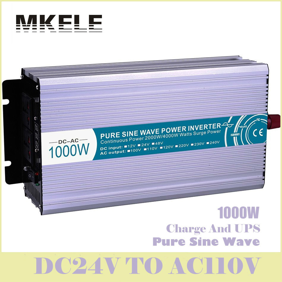MKP1000-241-C 1000w Dc24v To 110v Ac Off Grid Pure Sine Wave Solar Inverter Voltage Converter With Charger And UPS China high quality mkp5000 241 off grid pure sine wave 24vdc to ac 110v 5000w power voltage converter solar inverter led display china