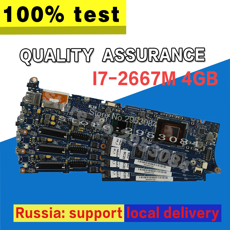 Hot selling UX21E for Asus laptop motherboard mainboard I7-2677m CPU 4G QS67 Chipset USB3.0 with high quality 100% test S-4